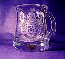 Plain & Cut Crystal Tankards available. 500ml & 250ml
